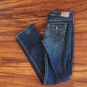 True Religion skinny boot size 27